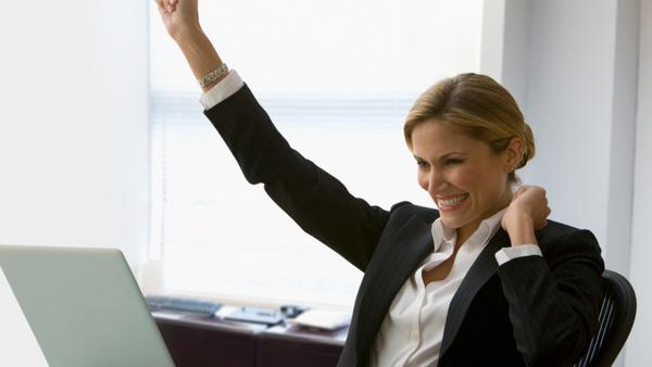 successful saleswoman