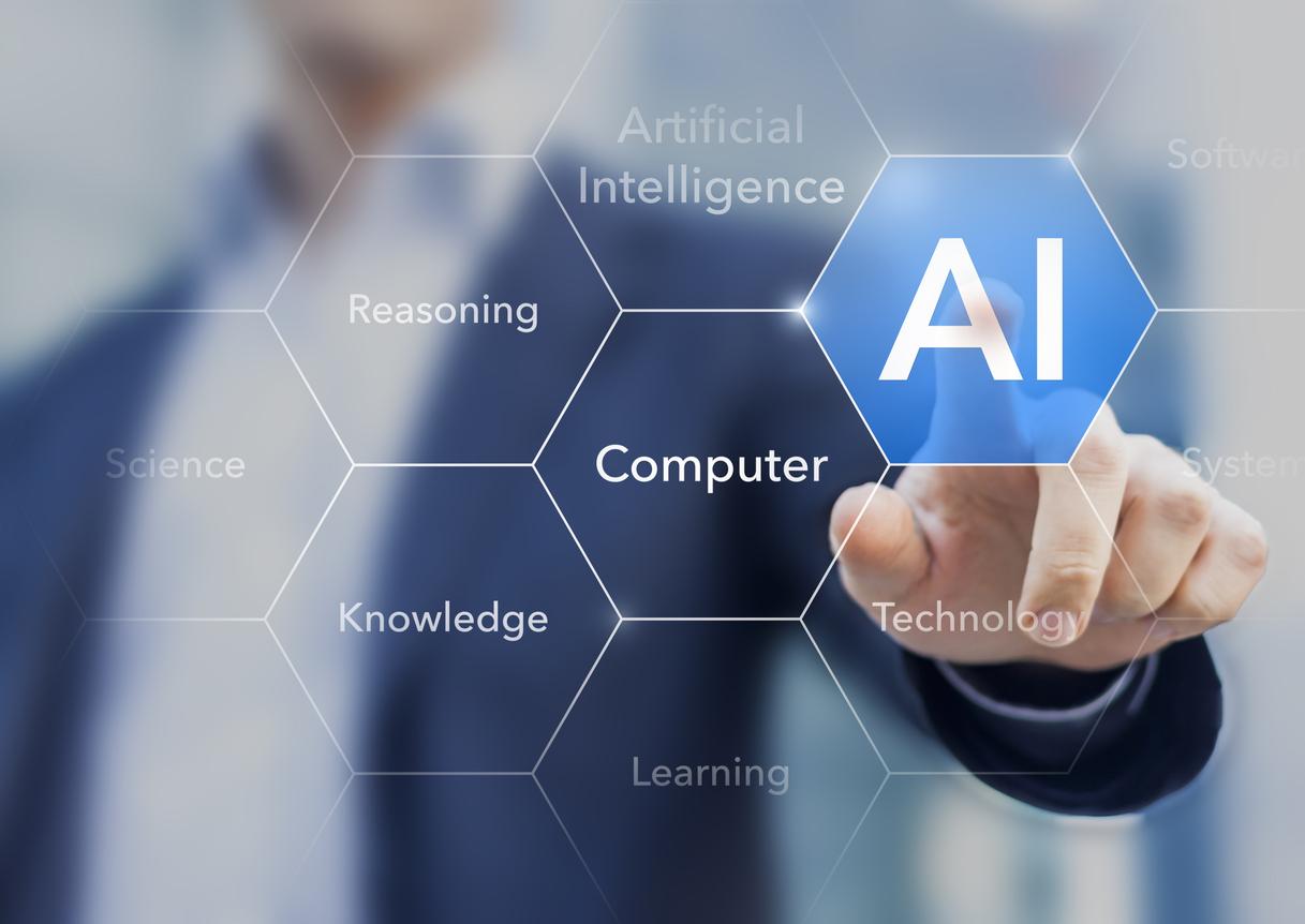man demonstrating artificial intelligence