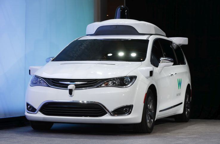 automated Chrysler Pacifica minivan