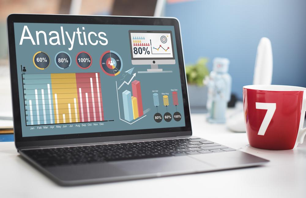 data analytics on a computer screen