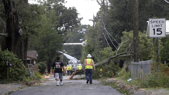 Tropical storm Nate destruction