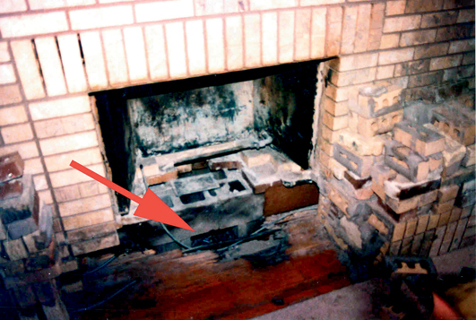 Fireplace double canada sided wood