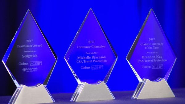Claims magazine presented three awards at the recent America's Claims Event in Charlotte, N.C. (Photo: Daniel Gray Photography)